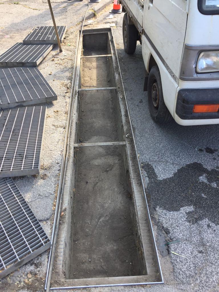 Foto interventi pulizia infrastruttura di rete acque bianche