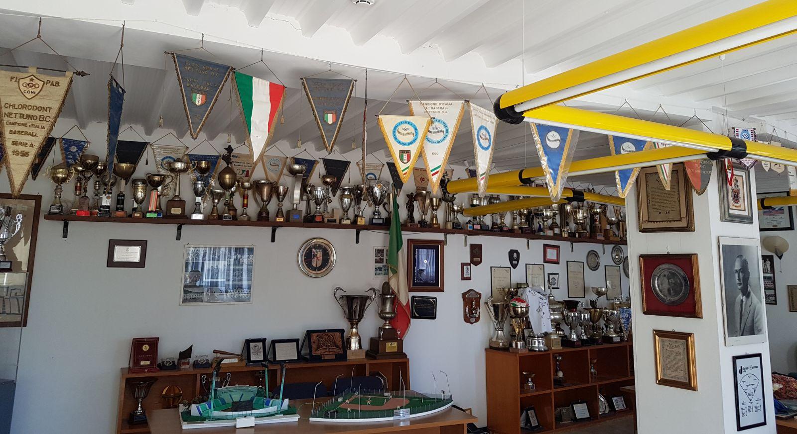 Museo temporaneo del Baseball_Sala trofei