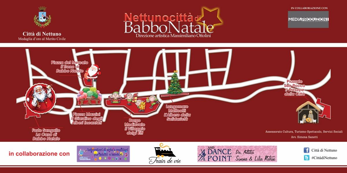 mappa Nettuno Città di Babbo Natale