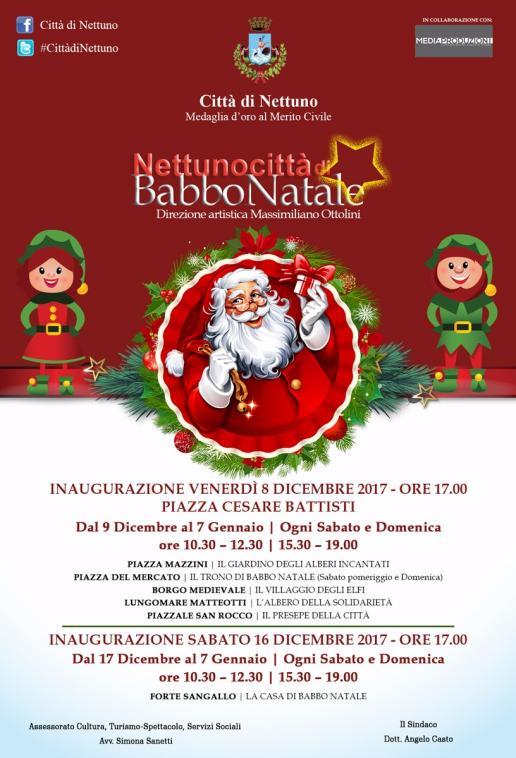 Babbo Natale 8 Dicembre Roma.La Magia Del Natale E In Arrivo Comune Di Nettuno Rm