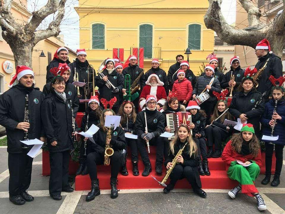 Banda Castellani con Babbo Natale