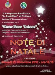 Locandina Concerto 21 Dicembre banda e coro