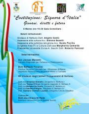 Locandina evento Costituzione 8 marzo 2018