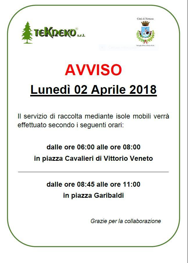 Variazione oraria 2 aprile per isole mobili di - Gonfalone mobili roma ...