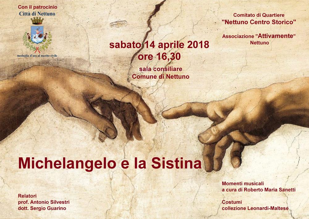 Locandina Michelangelo e la Sistina_Aprile 2018