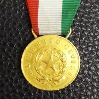 medaglia d'oro originale - retro