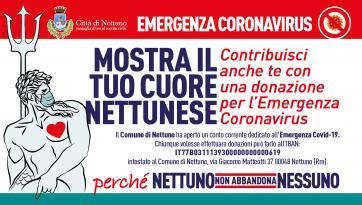 EMERGENZA CORONAVIRUS, APERTO CONTOCORRENTE PER LE DONAZIONI